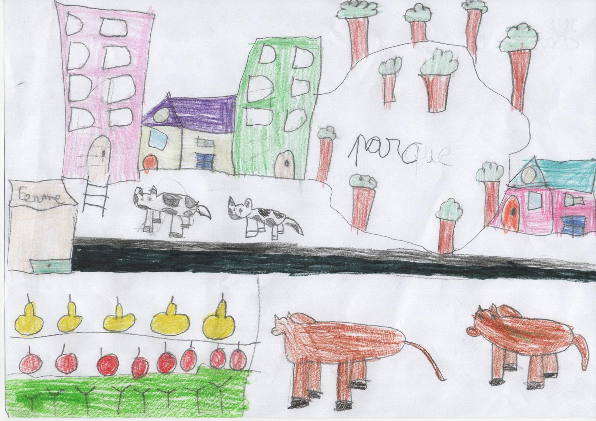 Dessine l'agriculture urbaine